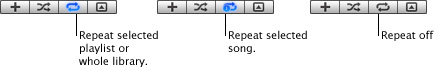 iTunes repeat Repeating a song or playlist