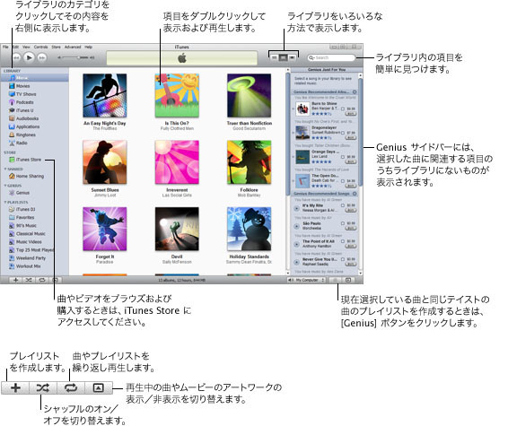 iTunes overview.9 iTunes を使い始める
