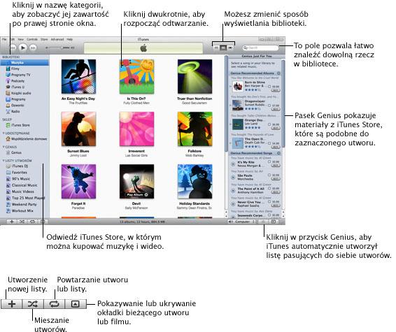 iTunes overview.9 Pierwsze kroki z iTunes