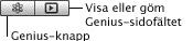 iTunes geniusbutton Spela upp en Genius spellista eller Genius mix