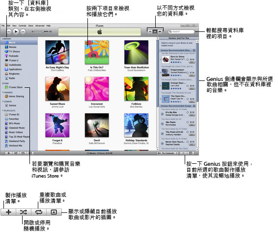 iTunes overview.9 iTunes 點唱機概要