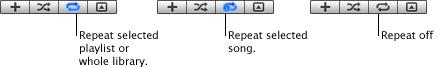 iTunes repeat 重複播放歌曲或播放清單