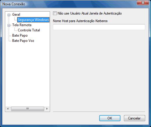 Radmin options addrecsec Alterar configurações