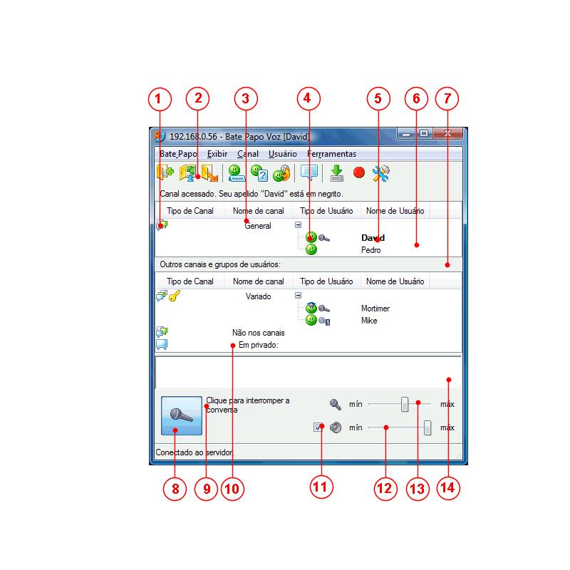 Radmin vcmainwndparts Interface do Usuário