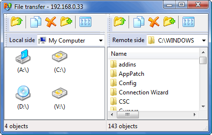 Radmin filetransferwnd File Transfer
