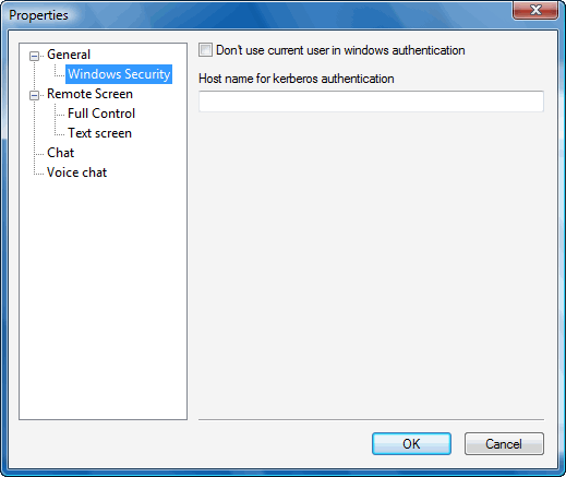 Radmin options addrecsec Changing settings