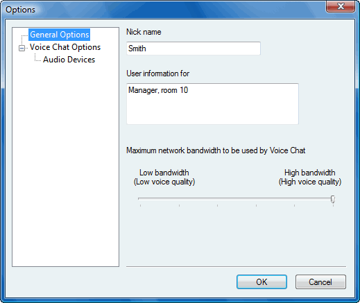 Radmin options v chat Using nicknames
