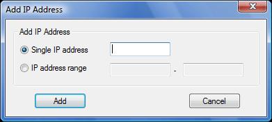 Radmin srvcfg options ipfilter add Setting up IP filter