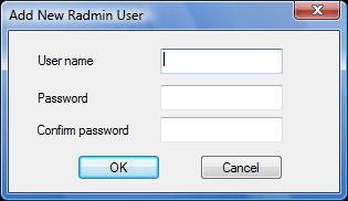 Radmin srvcfg radminsec add Using Radmin Security