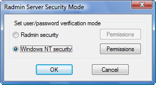 Radmin srvcfg secmode Using Radmin Security