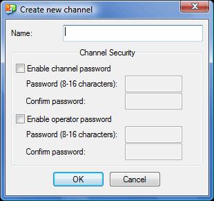 Radmin tc create Using channels