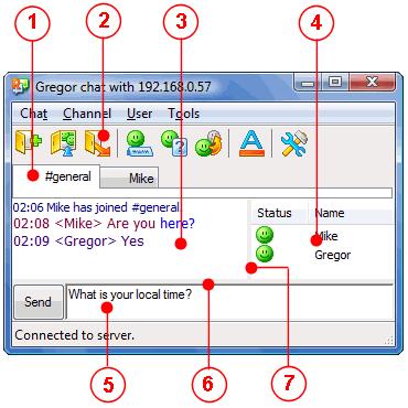 Radmin tcmainwndparts User interface