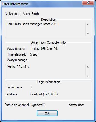 Radmin userdescr Away system