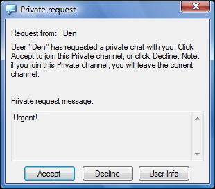 Radmin vc privreqwnd Using privates