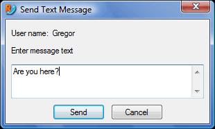 Radmin vc sendtxtmsg Text messages