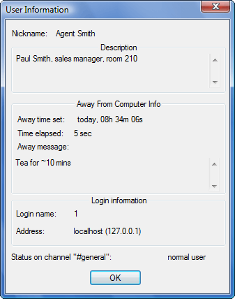 Radmin vchat userdescr User description