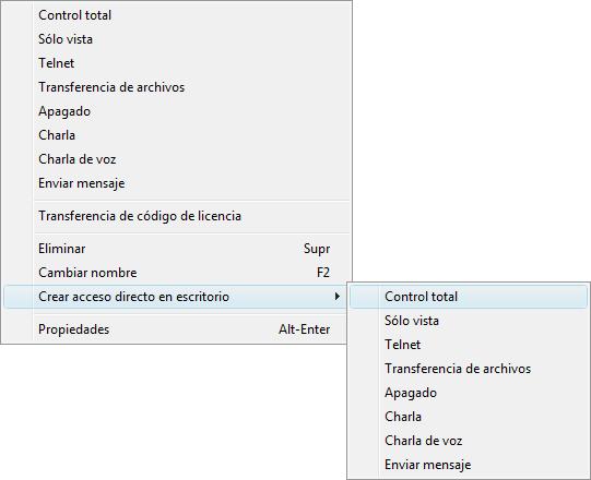 Radmin phonebookconmenu Accesos directos de escritorio