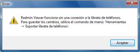 Radmin phonebookdisconnect Libreta de teléfonos compartida