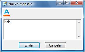 Radmin sendmsg Enviar mensaje