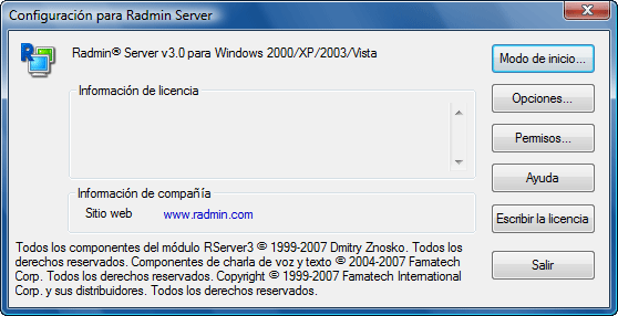 Radmin srvcfg Uso de la seguridad de Windows