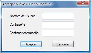 Radmin srvcfg radminsec add Uso de la seguridad de Radmin