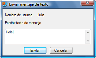 Radmin vc sendtxtmsg Mensajes de texto