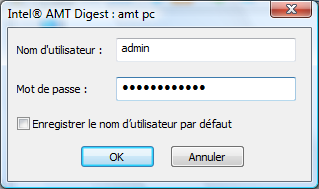 Radmin amt auth wnd Intel® AMT