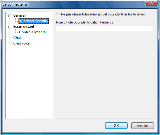 """Radmin options connectto Fenêtre """"Se connecter à"""""""