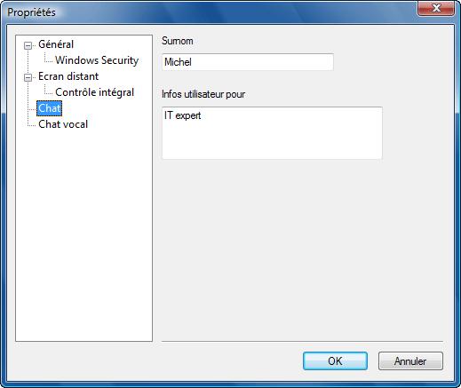Radmin options pb chat Utilisation de surnoms