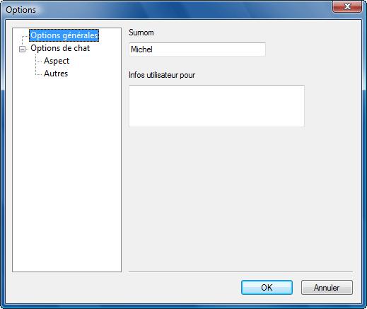 Radmin options t chat Utilisation de surnoms