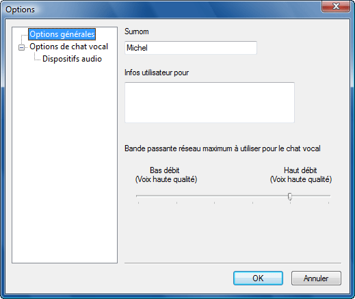 Radmin options v chat Utilisation de surnoms
