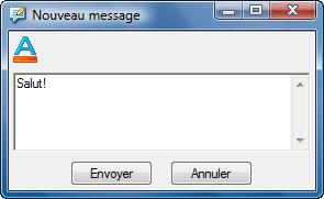 Radmin sendmsg Envoi de message