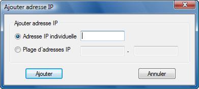 Radmin srvcfg options ipfilter add Configuration de filtre IP