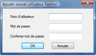 Radmin srvcfg radminsec add Utilisation de Radmin Security