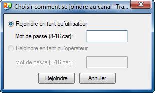 Radmin tc join mode Utilisation de canaux