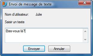 Radmin vc sendtxtmsg Messages de texte