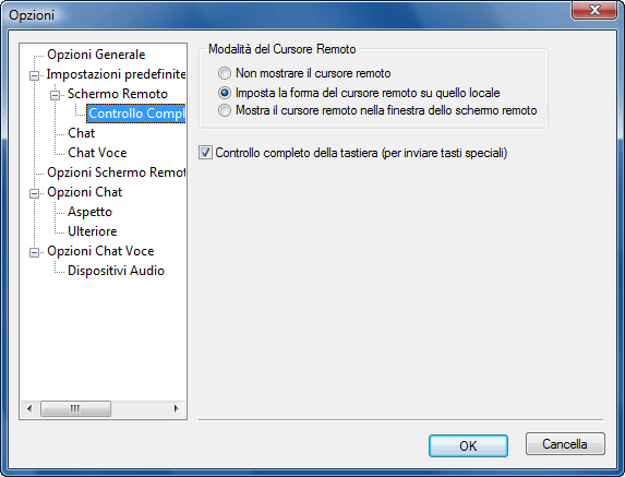 Radmin options d fullcontrol Default Controllo Completo