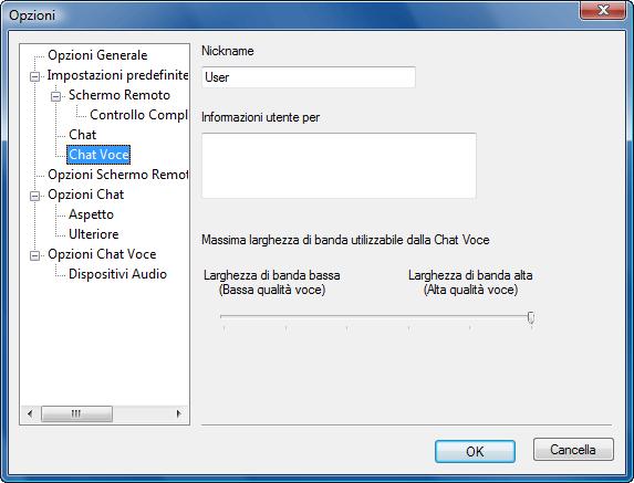 Radmin options d vchat Default chat voce