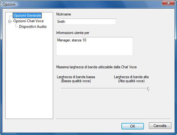 Radmin options v chat Utilizzo soprannomi