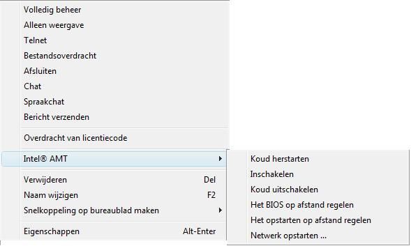 Radmin pb con menu amt Intel® AMT