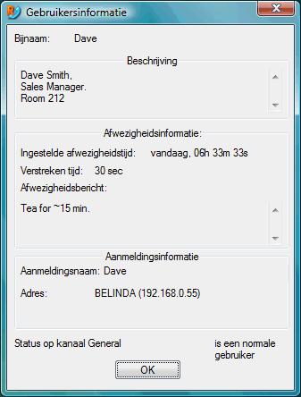 Radmin vchat userdescr Gebruikerbeschrijving