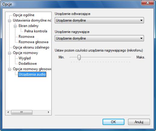 Radmin options vc adevices Urządzenia audio