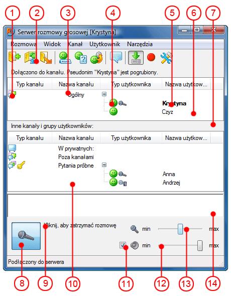 Radmin vcmainwndparts Interfejs użytkownika