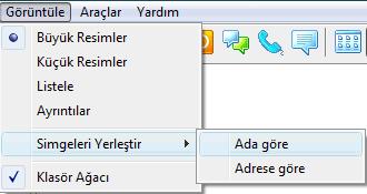 Radmin menuview Üst menüyü kullanma