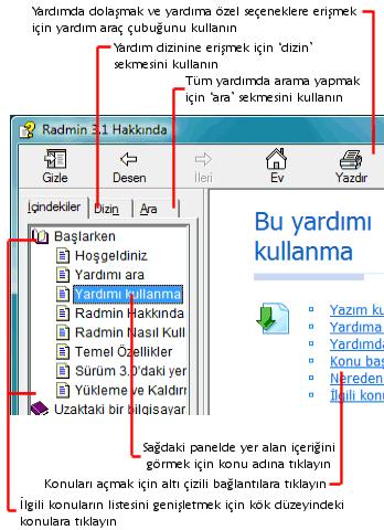 Radmin usinghelp Yardımı kullanma