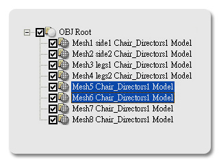 3dXchange director chair included Flipping the Normal