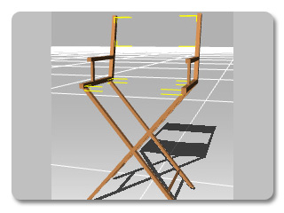 3dXchange director chair unflipped Flipping the Normal