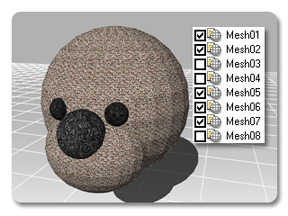 3dXchange excluded Including and Excluding Mesh Nodes