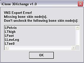 3dXchange excluded bone 1 Node Types