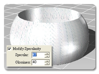 3dXchange modify specularity Color and Specularity